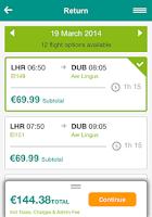Screenshot of Aer Lingus