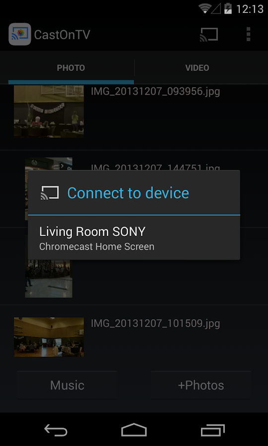 CastOnTV for Chromecast- screenshot