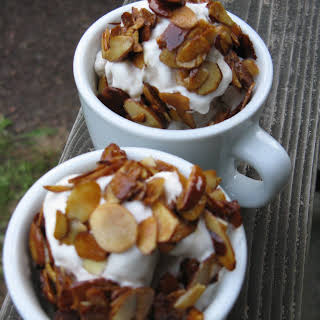 Coffee Ice Cream with Salty-Sweet Almonds.
