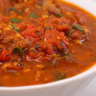 Sausage and Basil Marinara Sauce with Fresh Tomatoes.