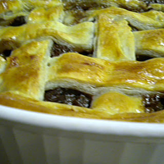 Steak, Mushroom and Oyster Pie.