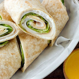 Turkey Wraps with Honey Mustard Dip.