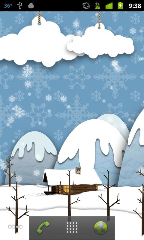 Samsung Parallax Winter LWP- screenshot