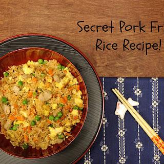 Secret Pork Fried Rice Recipe for #WeekdaySupper.