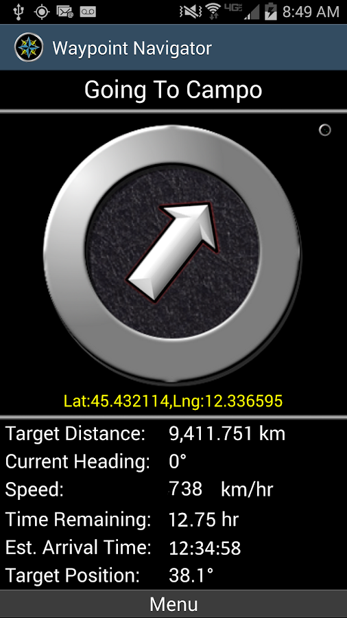 Polaris Navigation GPS - screenshot