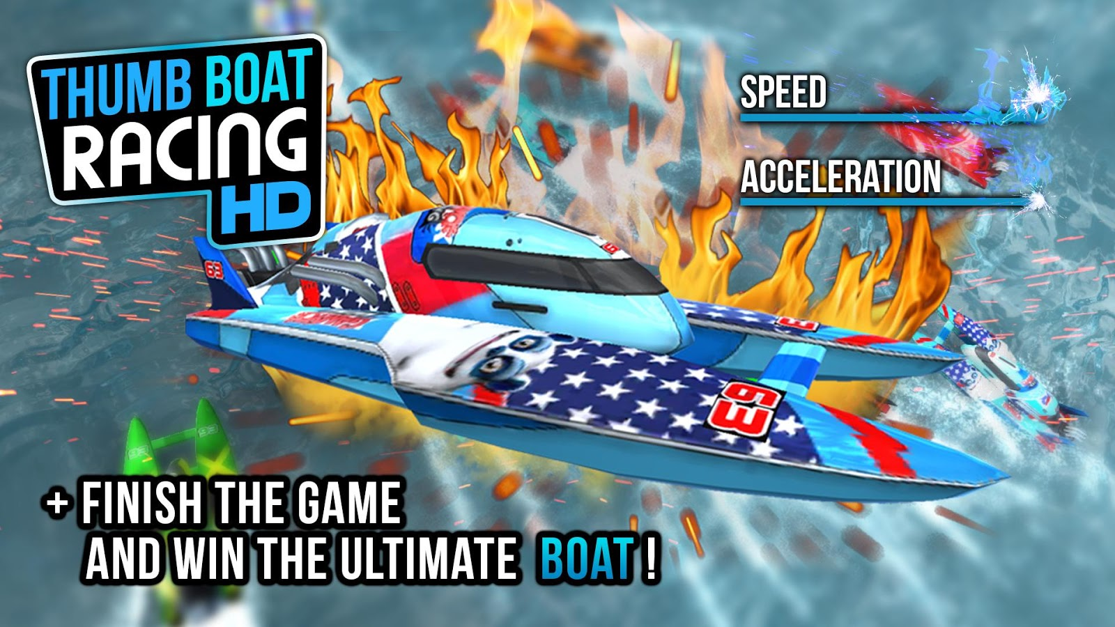 Thumb Boat Racing- screenshot