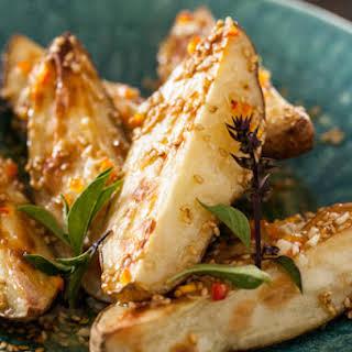 Warm Asian Potato Salad with Sesame & Fresh Chile Dressing.