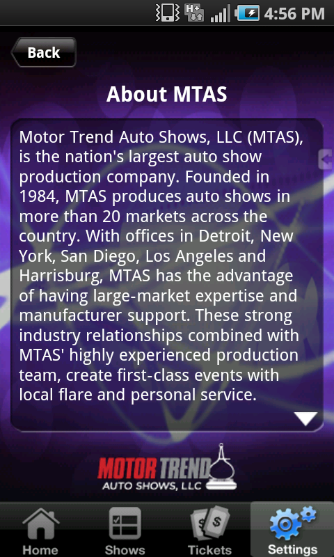 Motor Trend Auto Shows- screenshot