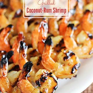 Grilled Coconut-Rum Shrimp.