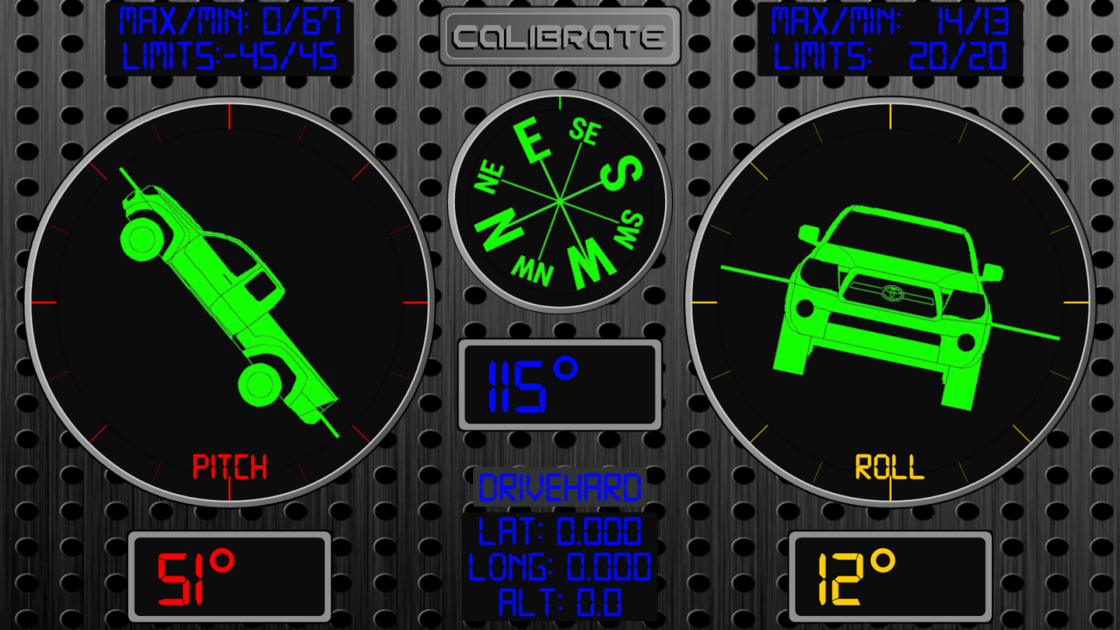 RollMeOverTrial - Inclinometer - screenshot