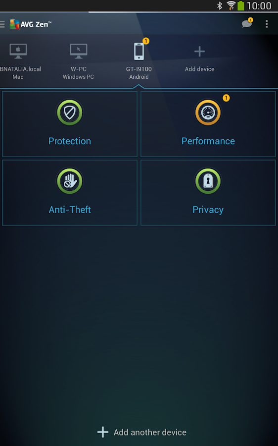 AVG Zen – Protect more devices - screenshot