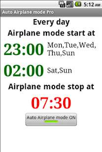 Auto Airplane mode Pro- screenshot thumbnail