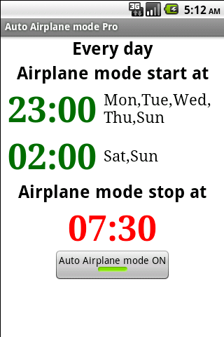 Auto Airplane mode Pro- screenshot