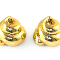 Lucky Golden Poo Earrings