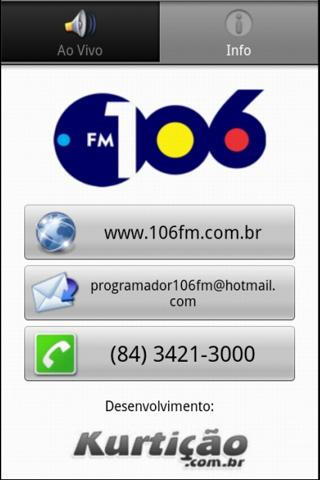 Rádio 106 FM - screenshot