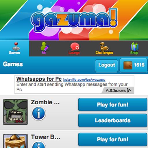 App Insights: Gazuma HTML5 Games Portal   Apptopia