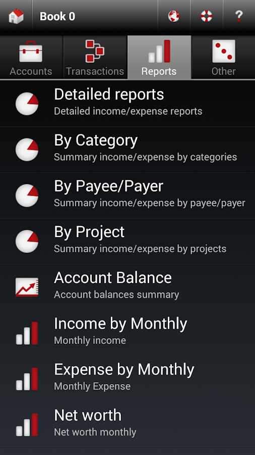 Money Manager - pMoney Line - screenshot