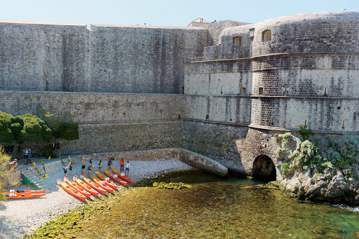 Tere-Moana-Dubrovnik-kayaks - A fun way to see Dubrovnik, Croatia, is by kayak during your Tere Moana cruise.