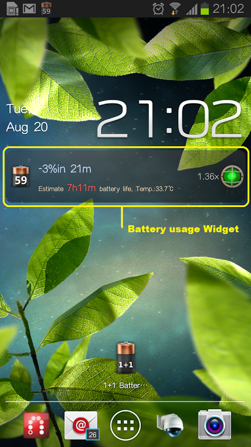 1+1 Battery Saver - screenshot