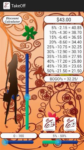TakeOff Discount Calculator