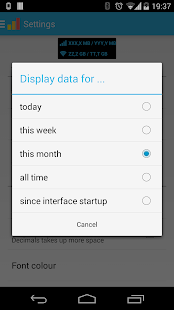 Data counter widget- screenshot thumbnail