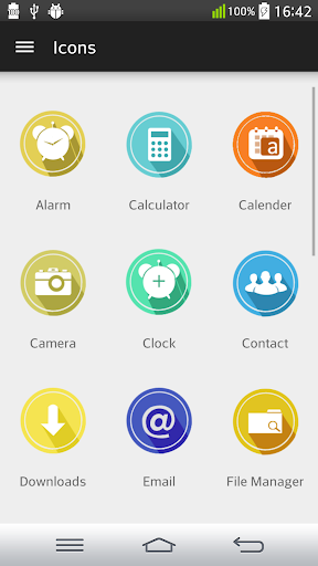 玩個人化App|Theme for LG Home- FlatRound免費|APP試玩