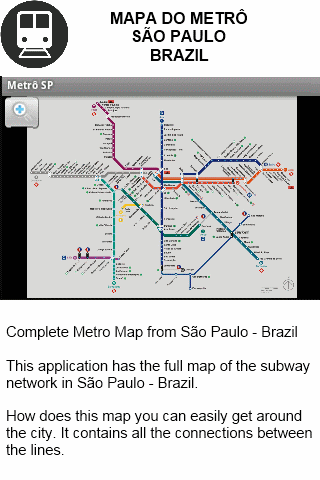 Metro Map - Sao Paulo - Brazil- screenshot