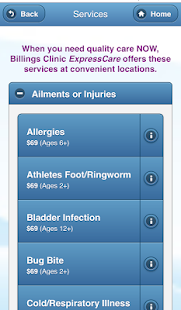 Billings Clinic ExpressCare- screenshot thumbnail