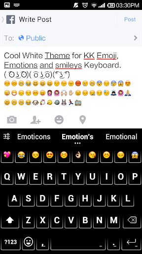 Cool White - Emoji Keyboard
