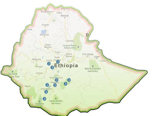 DOT Ethiopia Map
