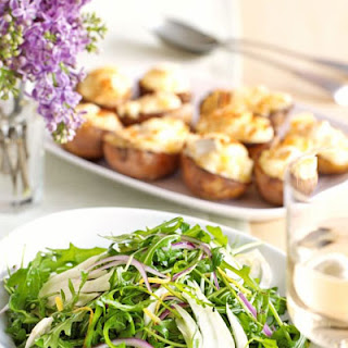 Twice-baked Potatoes With Goat's Cheese.