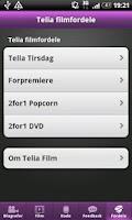 Screenshot of Telia Tirsdag