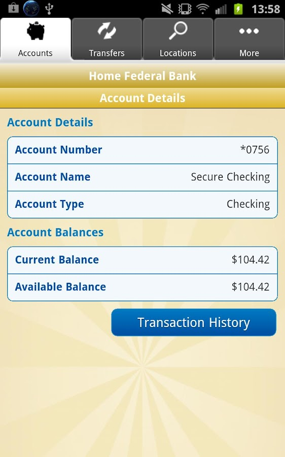 HomeFed Mobile Banking - screenshot