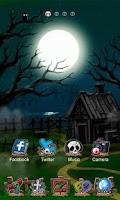 Screenshot of Zombie Night GO Theme