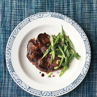 Seared Steak with Minted Green-Bean Slaw