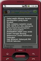 Screenshot of Kalkulator Zakat Pendapatan