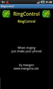 Ring Control Shake your Phone - screenshot thumbnail