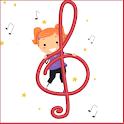 Music notes Memory Game logo