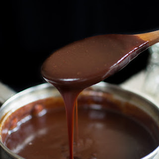Dark Chocolate Salted Caramel Sauce.