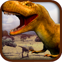 Dinosaur War puzzle game icon