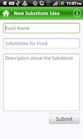 Screenshot of Food Substitutes