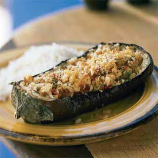 Baked Eggplant with Savory Cheese Stuffing.