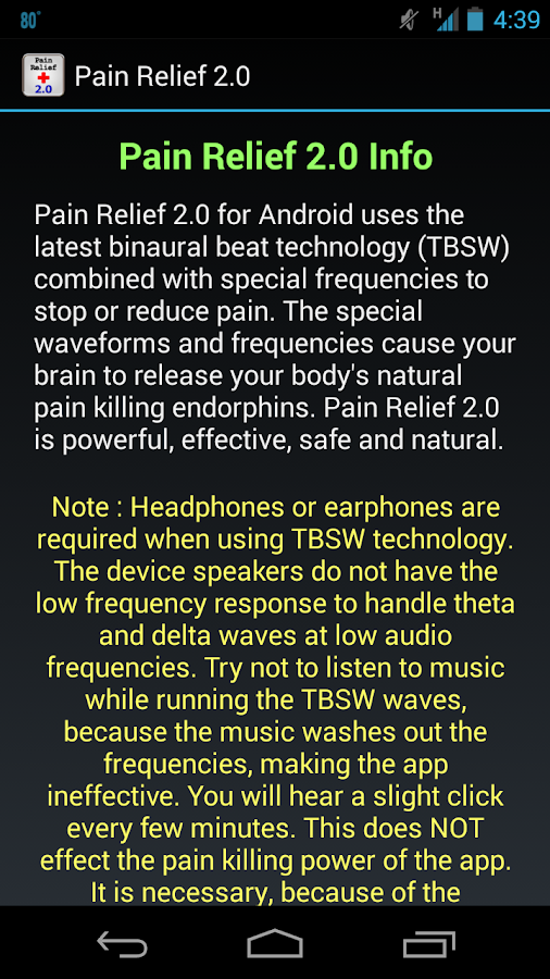 Pain Relief 2.0- screenshot