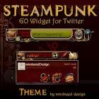 Steampunk Twitter GO Widget icon