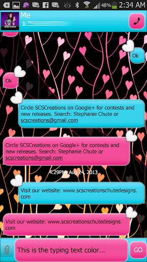 GO SMS - Sweet Hearts 4