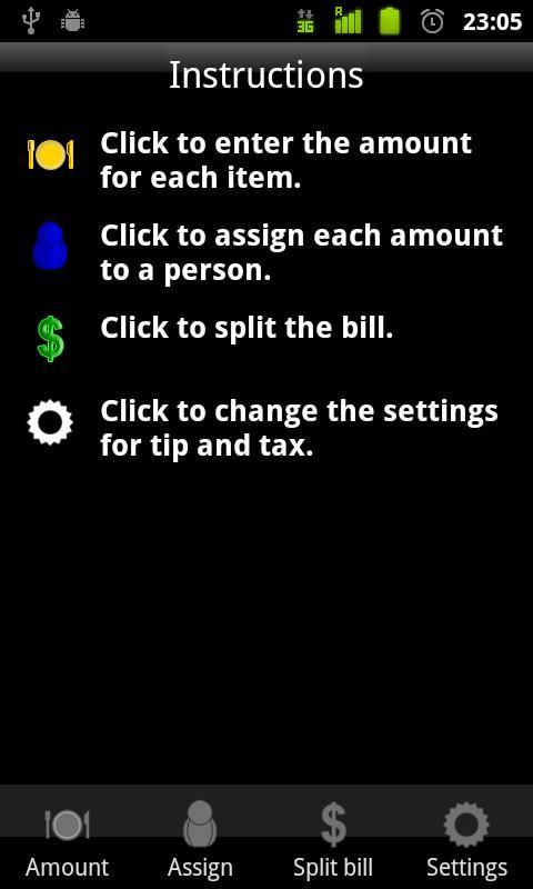 Divide the Bill- screenshot