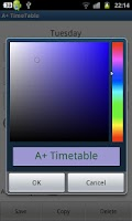 Screenshot of A+ Timetable