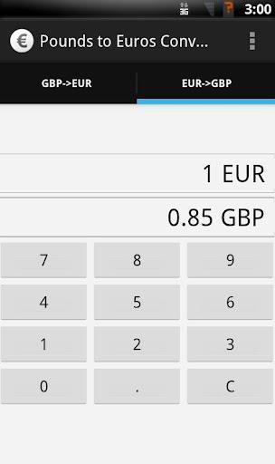 GB Pounds to Euros converter