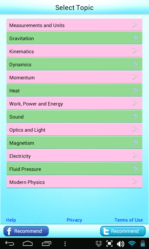 Science Grade 6 7 8 Physics- screenshot