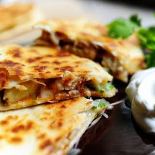 Grilled Chicken & Pineapple Quesadilla.